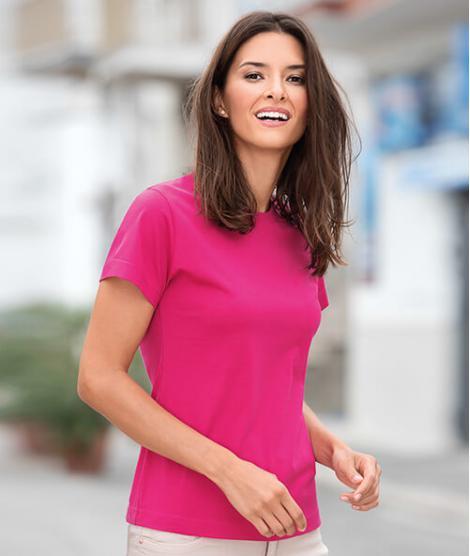 Women's Basic Basic T-shirt with Silicone Finish