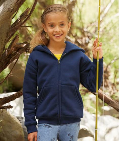 Kids Premium Hooded Sweat  Jacket Fruit of the Loom