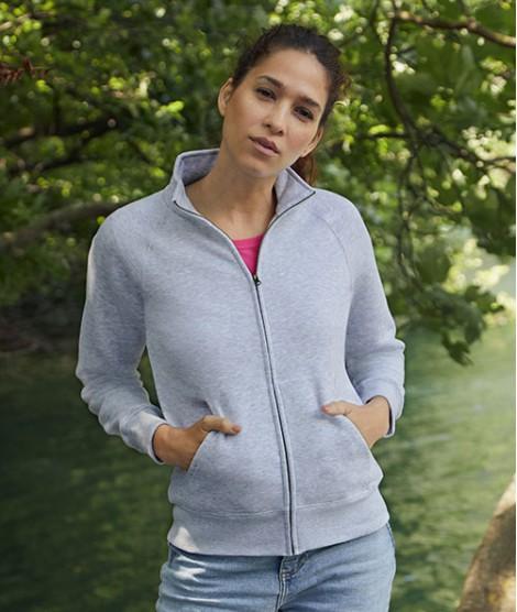 Ladies Premium Sweat Jacket  Fruit of the Loom